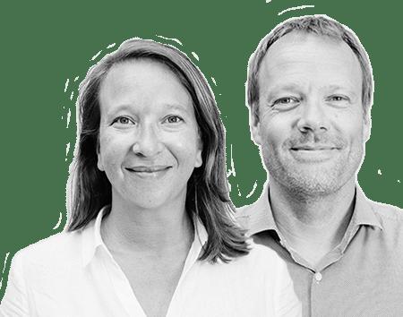 Hélène Desliens et Ludovic Pruche, cofondateurs d'Experteez