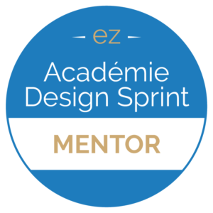badge de l'Académie Design Sprint Mentor Experteez